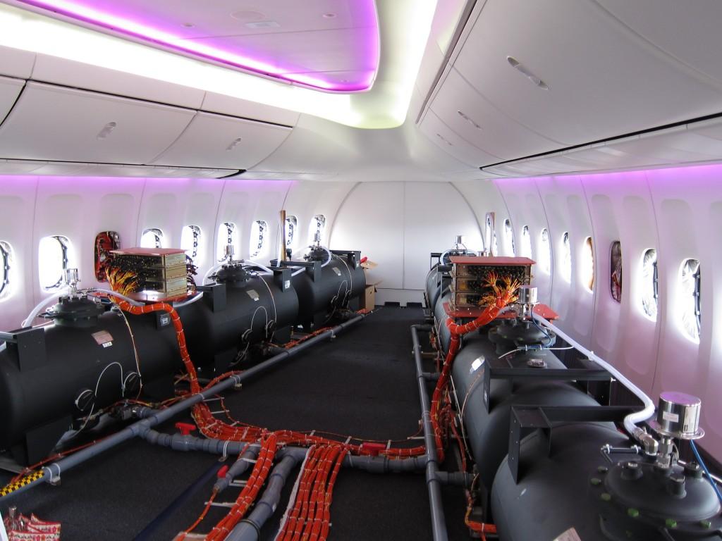 Wnętrze samolotu przeznaczonego do zrzutu chemikali