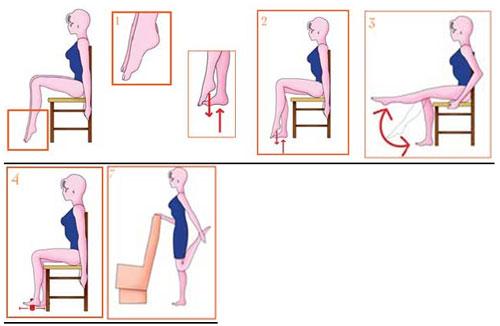 Ćwiczenia w biurze - zapobiegaj żylakom