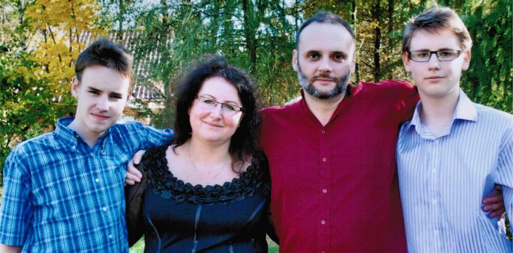 Maria Niemczyk z rodziną